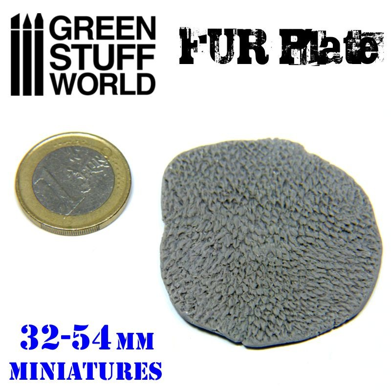 Gsw Texture Plate Wolf Fur | GameKnight Games