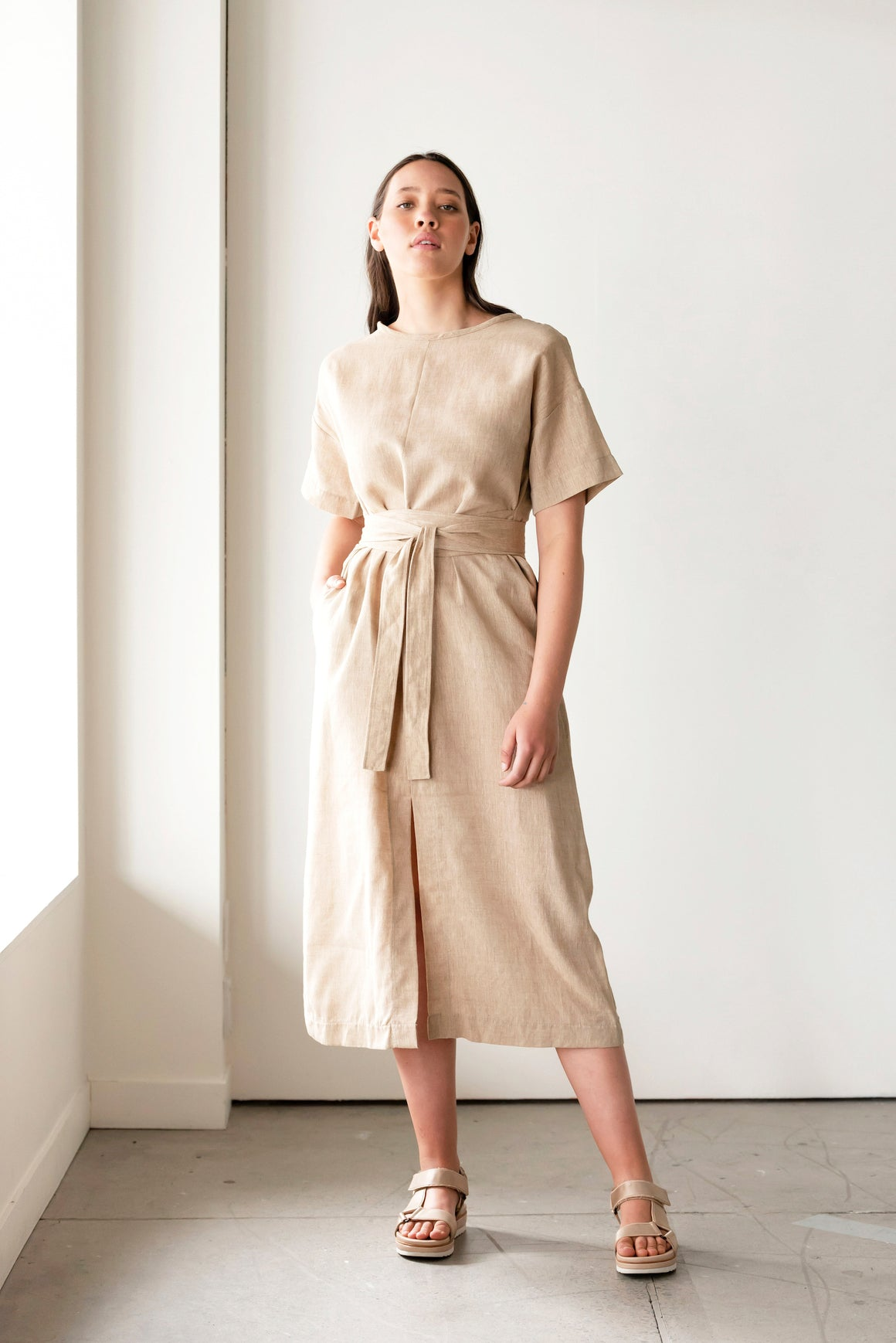 Abide Handwoven Dress | Driftwood