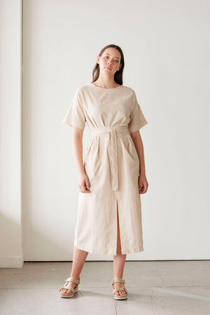 Abide Handwoven Dress | Oatmeal
