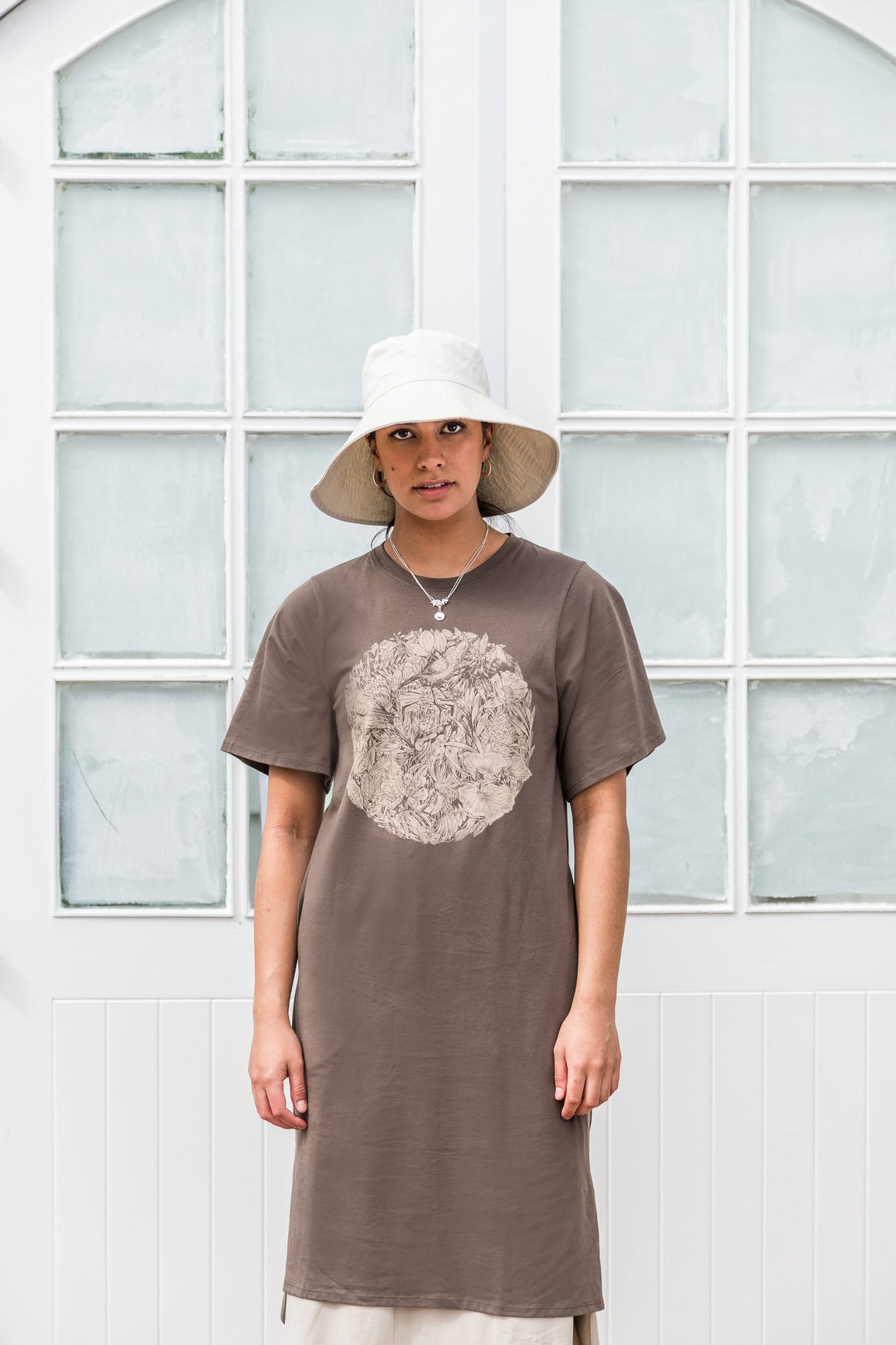 Flora & Fauna Dress | Taupe