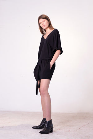 Ripple Reversible Dress | Black