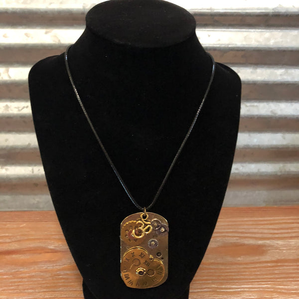 Steampunk Tag Necklace