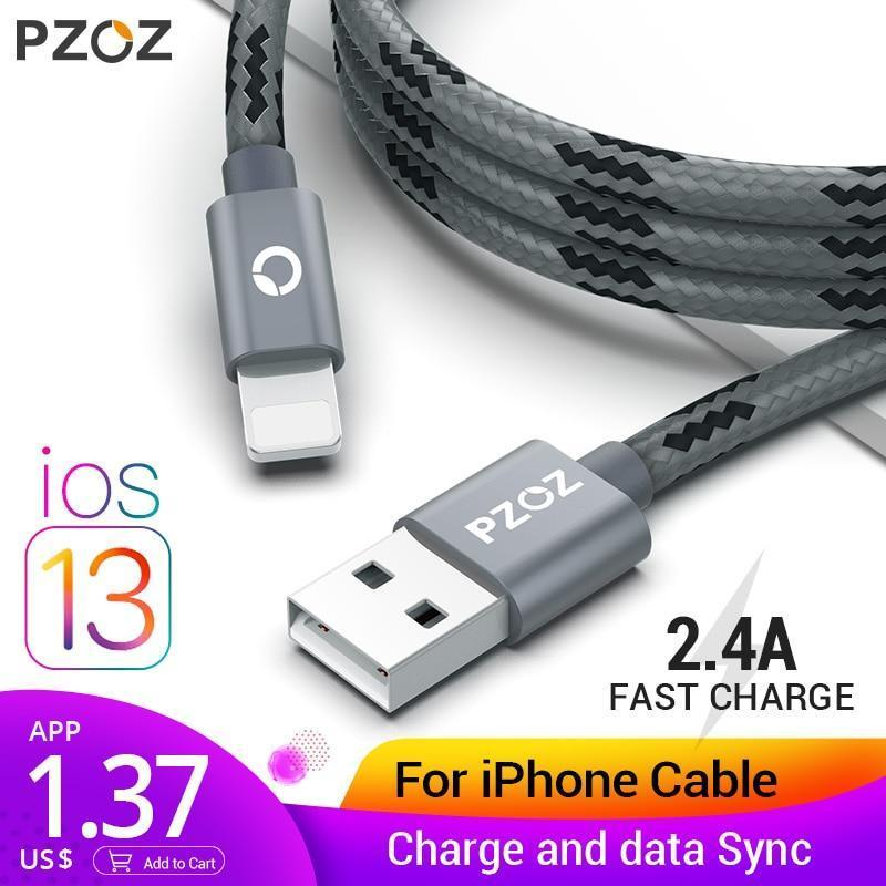SPEED DATA TRANSFER FIBER IPHONE USB CABLE