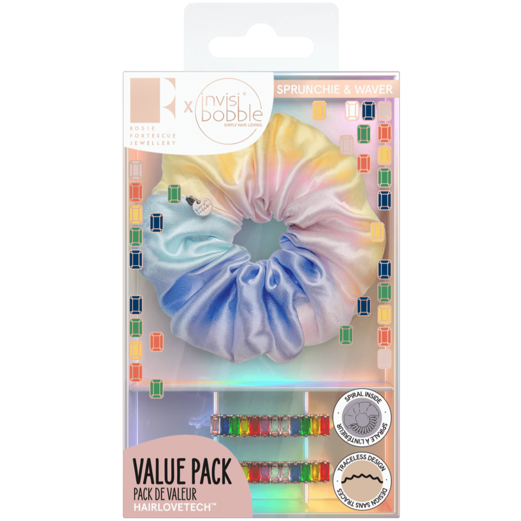 invisibobble® SPRUNCHIE + WAVER – Rainbro Kit