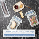 Reusable Mason Jar Zip Bags