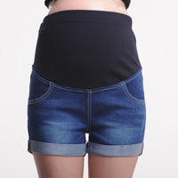 Maternity Denim Coloured Shorts