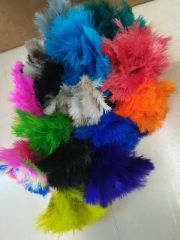 Ostrich Feather Key Rings