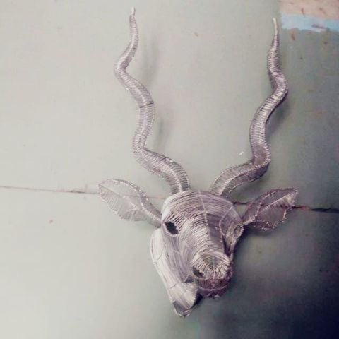 Wire Kudu Head