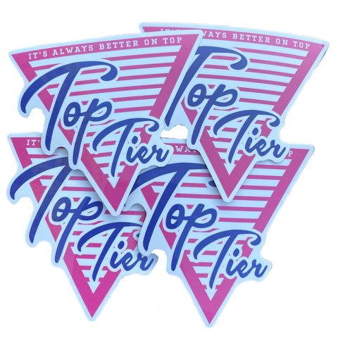 Top Tier Pink Classic Logo stickers