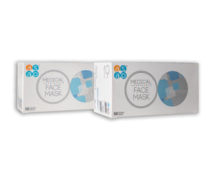 ASAP 3 Ply Earloop Face Masks 50 Pieces Per Box