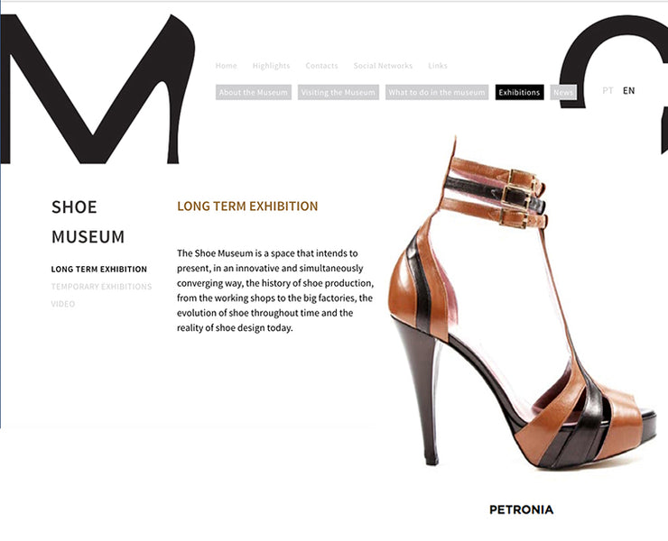 Iconic Style Petronia as featured at Portugal's Shoe Museum!.