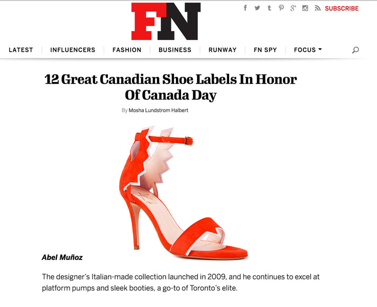 Amazing To Be Included In (FN) Footwear News. In Honour Of Canada Day