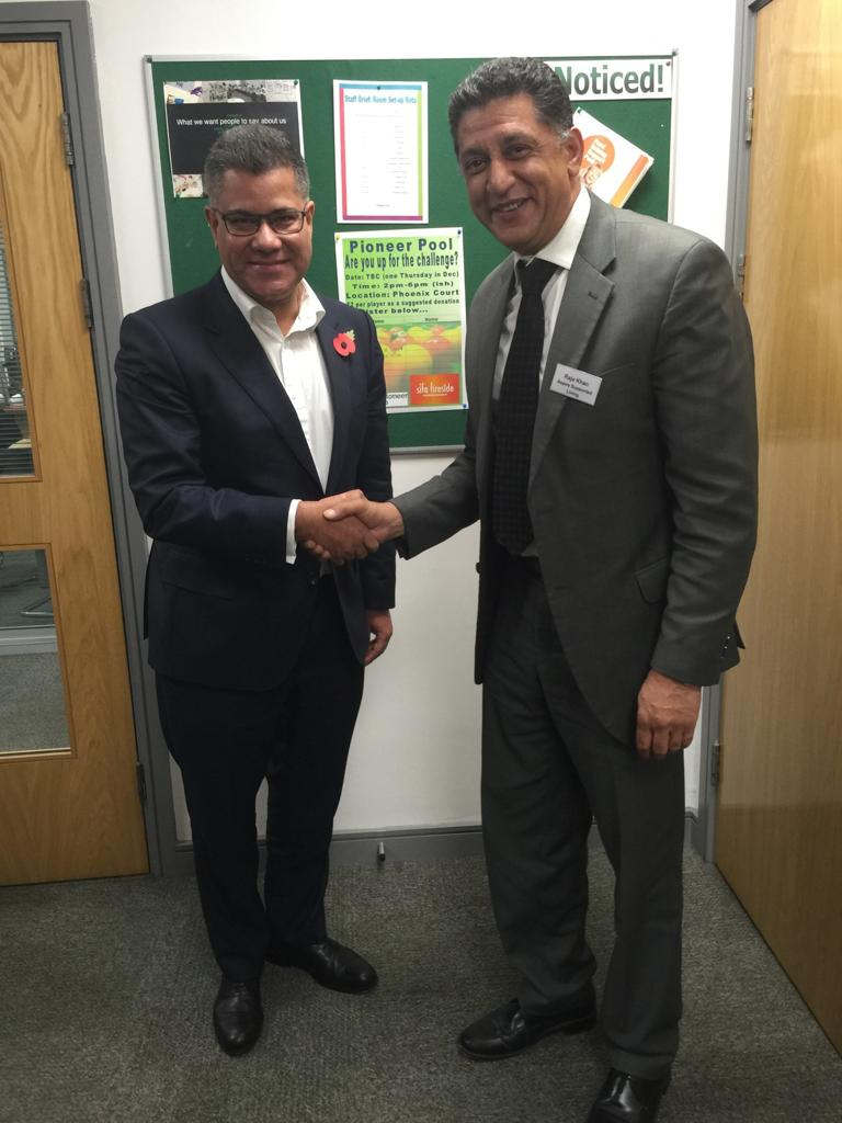 Raja Khan – CEO of Aspire Supported Living CIC and Alok Sharma (Secretary of State for Business, Energy and Industrial Strategy)