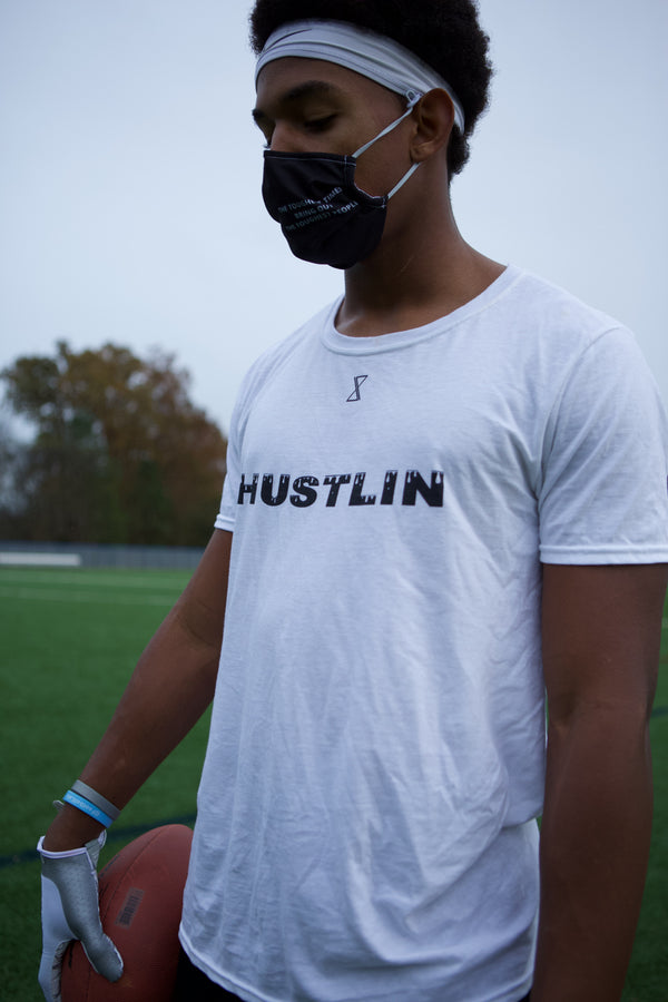 Hustlin White T-Shirt