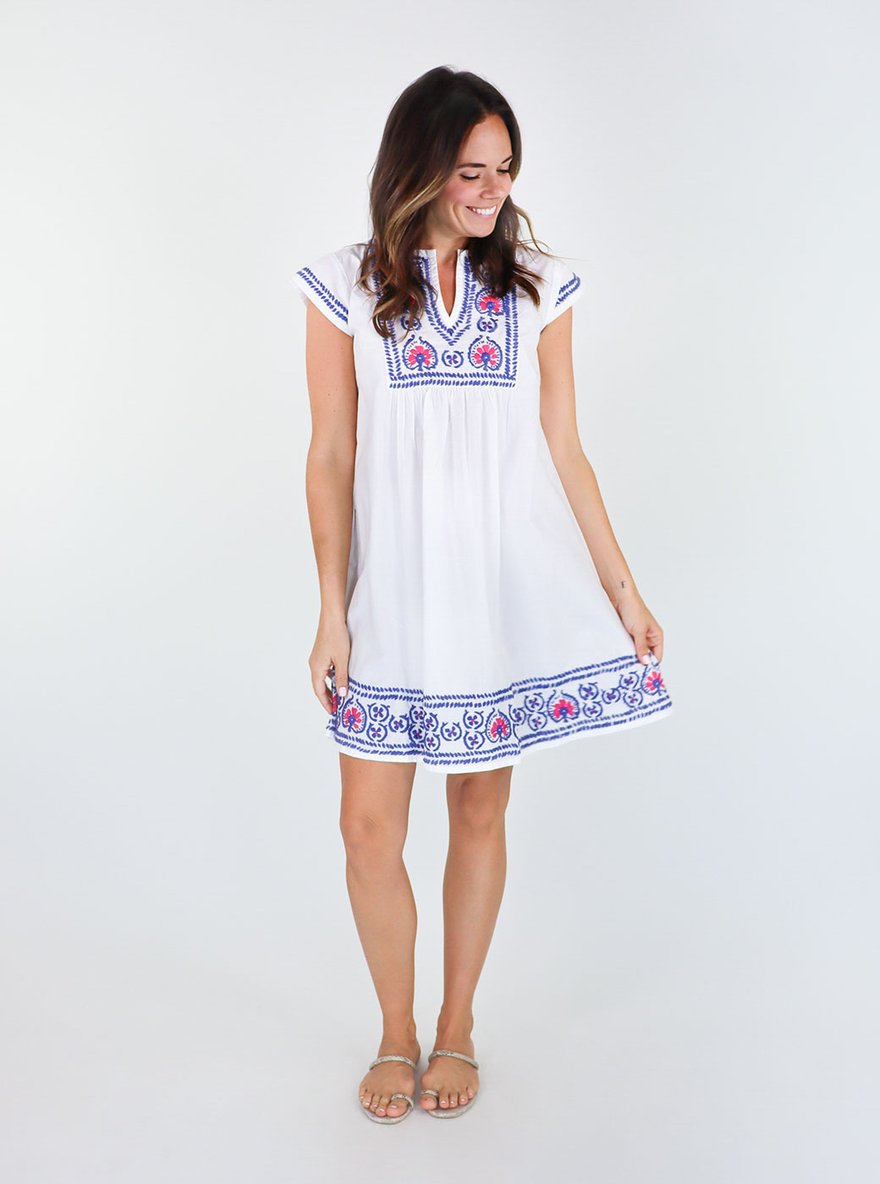 Pomegranate Embroidered Dress
