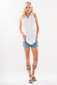 Finley White Shelly Top