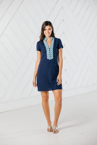 Sail to Sable Navy S/S Tunic