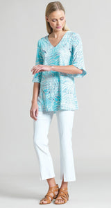 Clara Sun Woo Turquoise Tropical Top