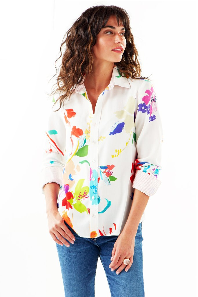 Finley Alex Wild Floral Button-Down Shirt