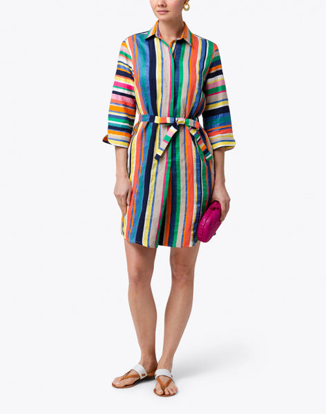 Vilagallo Multicolor Striped Dress