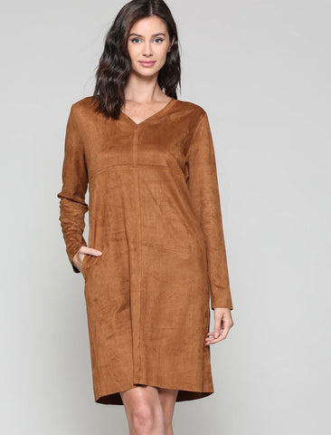 Joh Faux Caramel Suede Dress