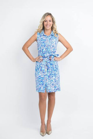 Katherine Way Napa Dress Floral Fun Royal