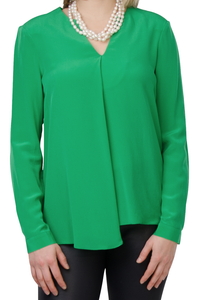 CP Green Washable Silk Top