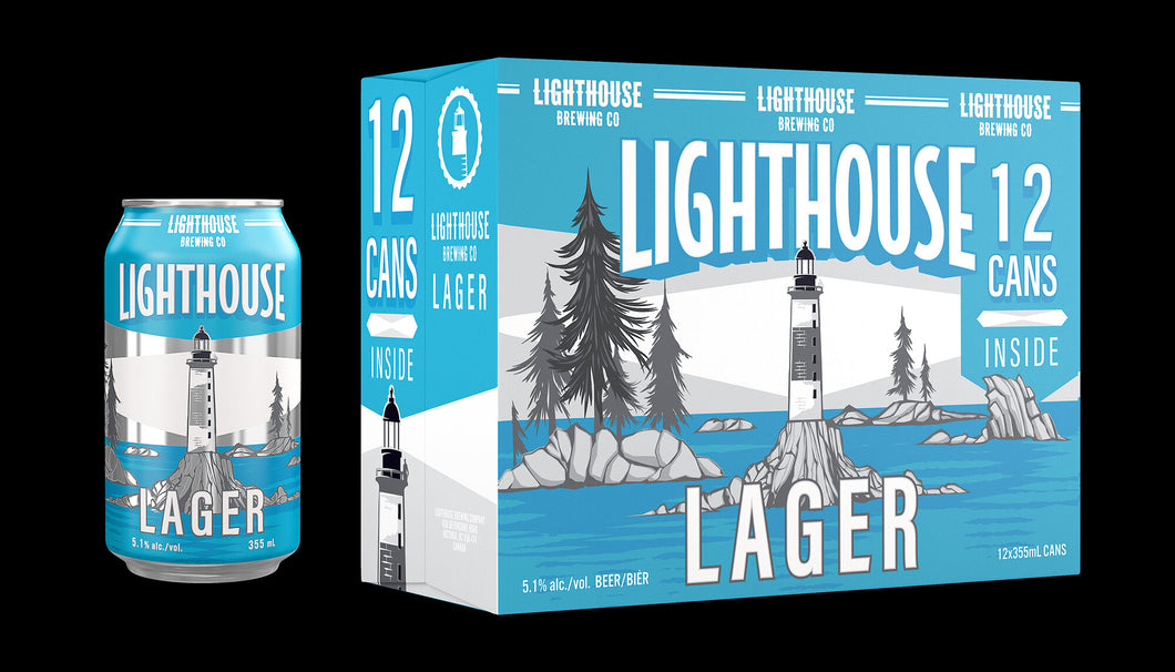 Lighthouse Brewing Lager 12 x 355 ml can