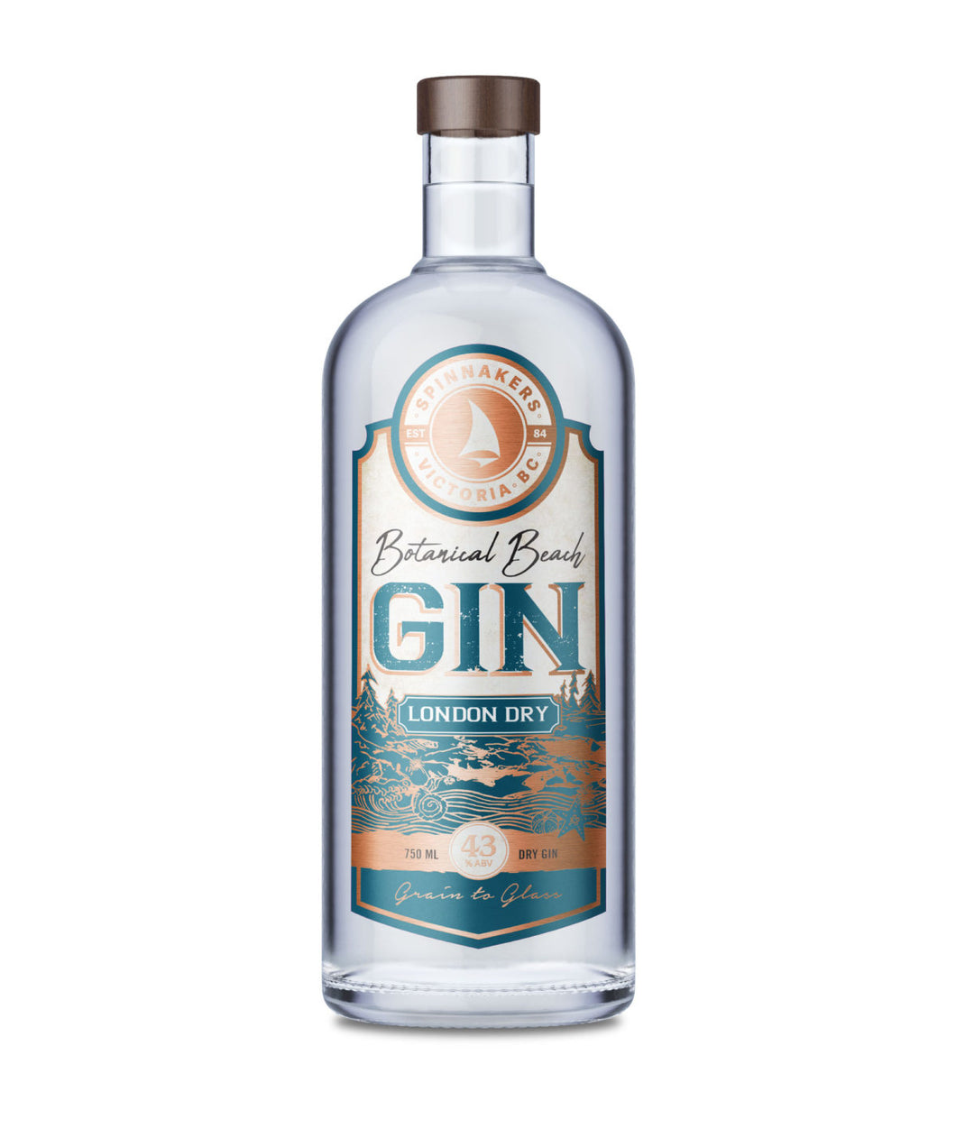 Spinnakers Botanical Beach London Dry Gin 750 ml