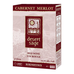 Bordertown Winery Desert Sage Cab Merlot 3L Box