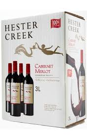 Hester Creek Winery 2018 Cab Merlot 3l box