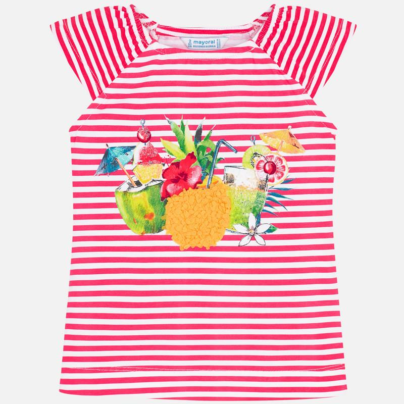 Stripes tropical T-shirt korte mouw Mayoral