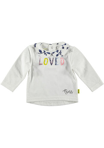 Loved collar T-shirt lange mouw Bess