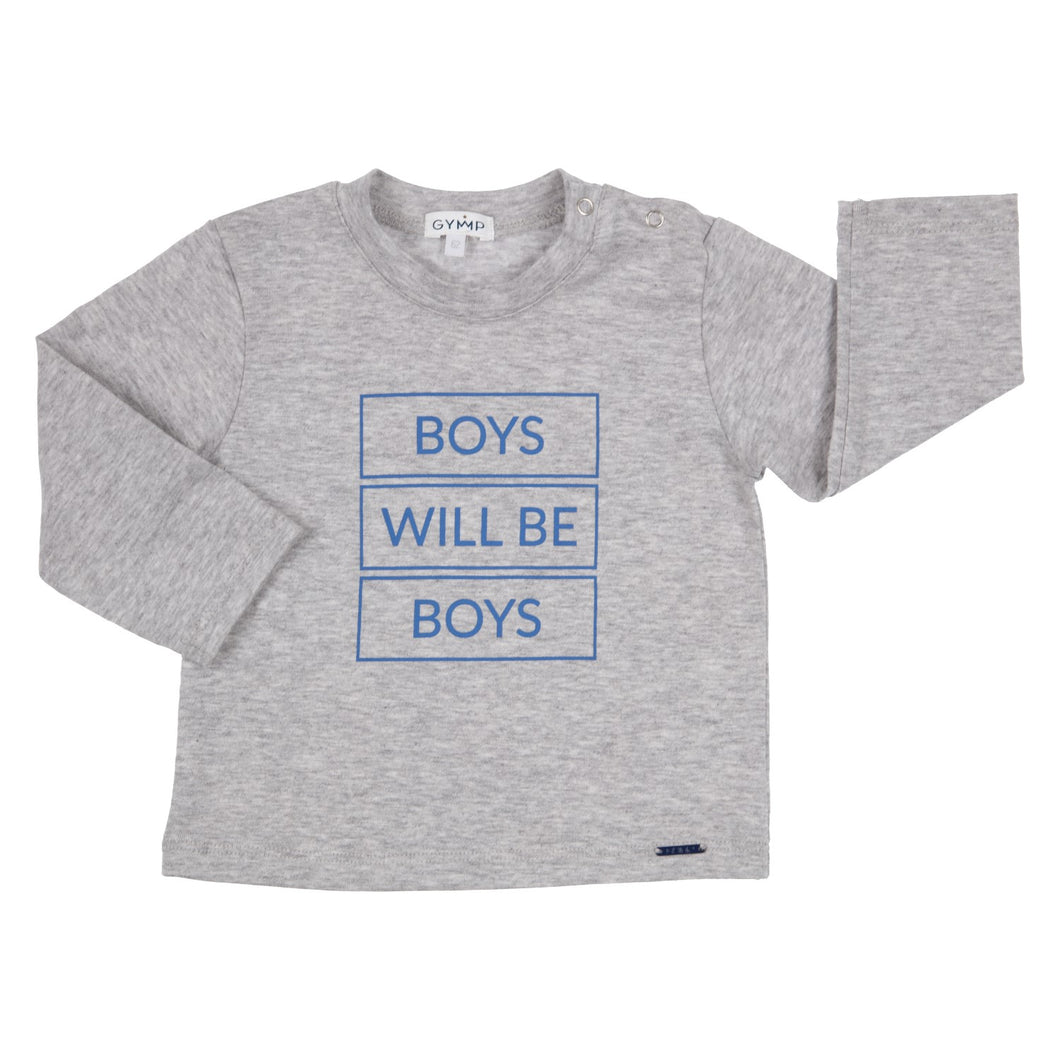 Boys will be boys T-shirt lange mouw Gymp