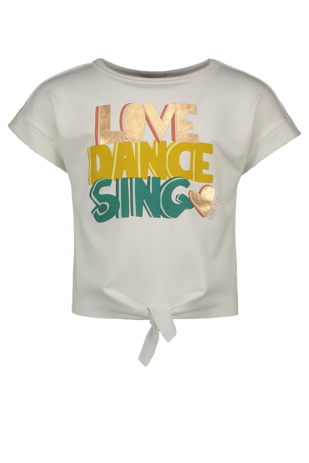 Love knotted T-shirt korte mouwen Flo