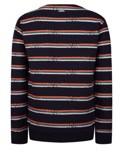 All over stripe Sweater Indian Blue jeans