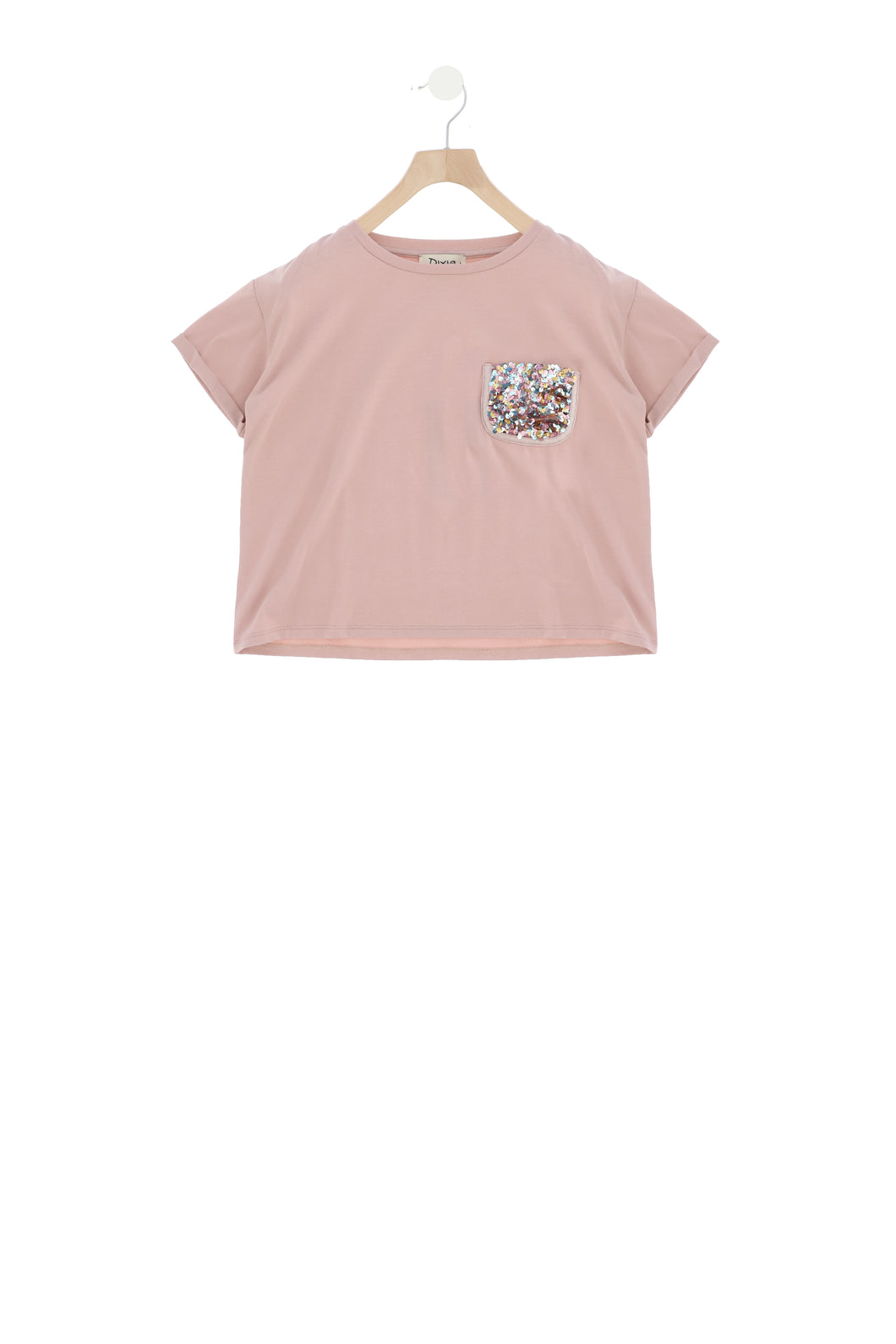 Glitter pocket T-shirt korte mouw Dixie