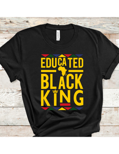 Educated, Black King T-Shirt