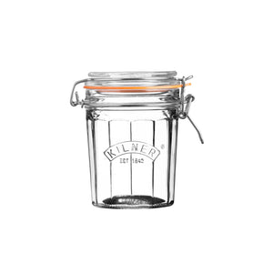 Facetted Clip Top Jar