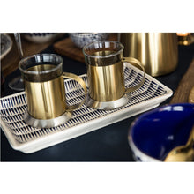 Load image into Gallery viewer, La Cafetière Edited Set Of 2 Glass Cups Brushed Gold