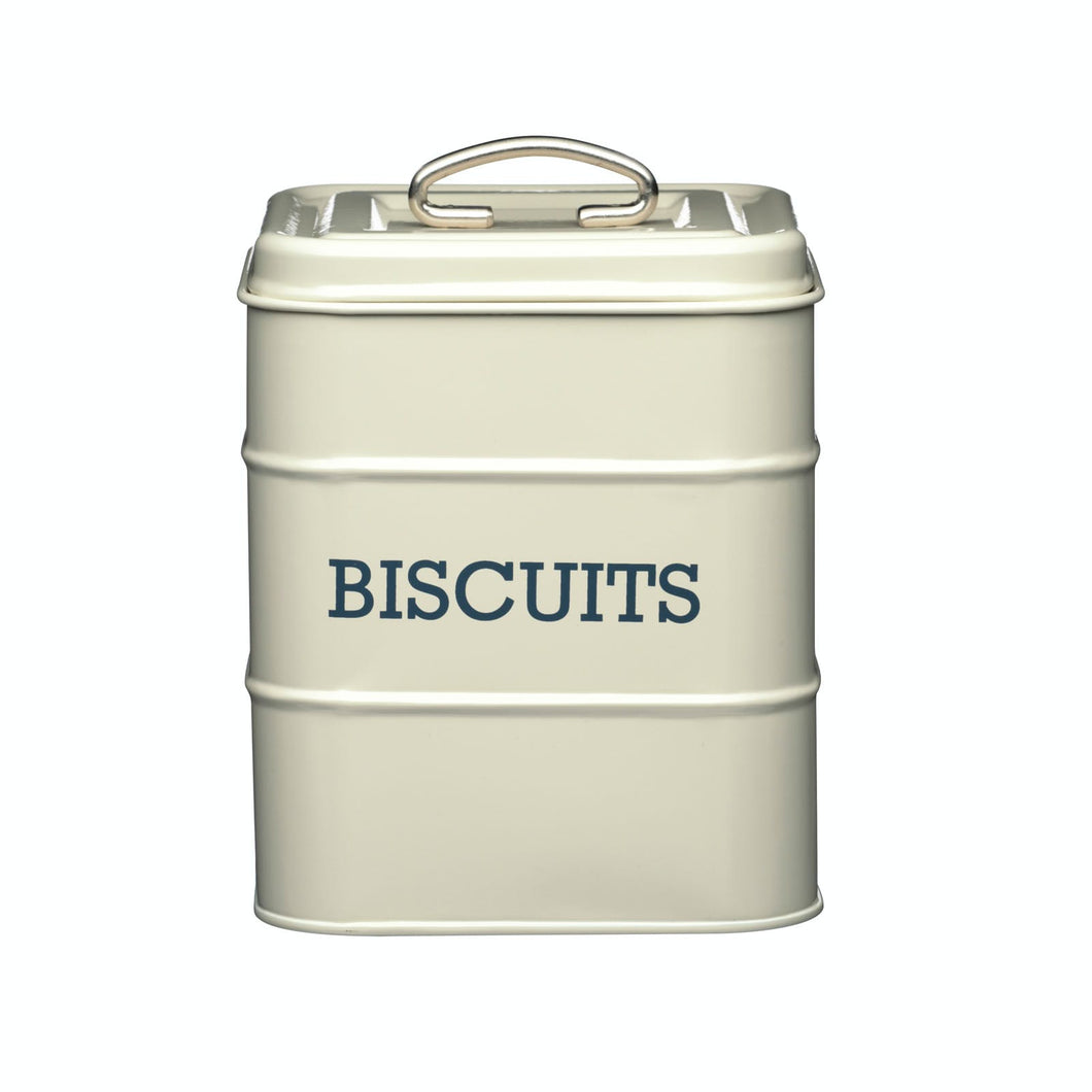 Living Nostalgia Antique Cream Biscuit Tin