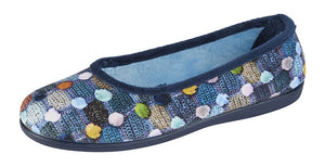 Samira Slippers Navy