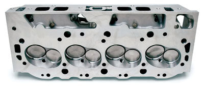 Edelbrock Performer High-Compression 454-O oval port head has 100-cc semiopen combustion chambers that produce a 9.2:1 compression ratio with flattop pistons in a 454. (Photo Courtesy Edelbrock)