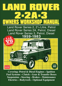 Land Rover 2 - 2A - 3 Owners Workshop Manual 1959-1983