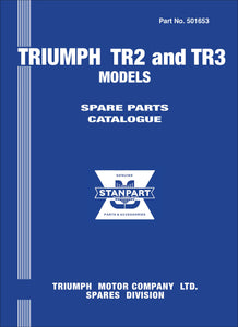 Triumph TR2 & TR3 Spare Parts Catalog