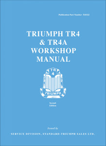 Triumph TR4 & TR4A Workshop Manual + TR4A Model Supplement