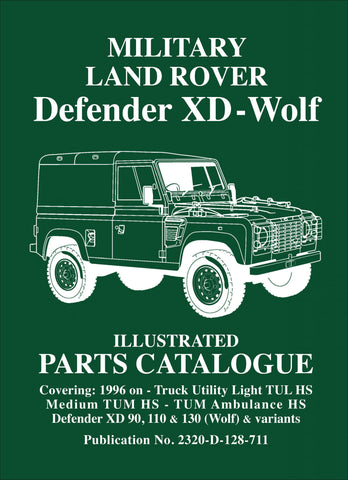 Image of Military Land Rover Defender XD Wolf Parts Catalogue