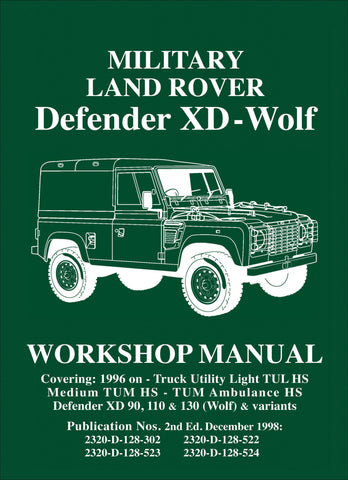 Image of Military Land Rover Defender XD-Wolf Workshop Manual