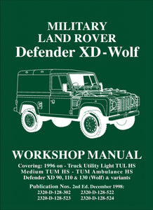 Military Land Rover Defender XD-Wolf Workshop Manual