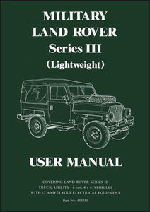 Military Land Rover Series 3 (Light Weight) User Manual